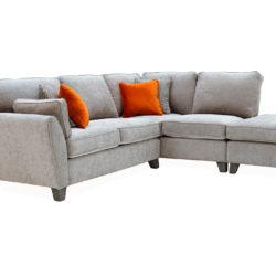 cantrell corner sofa silver