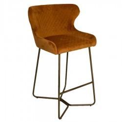 carla bar stool orange